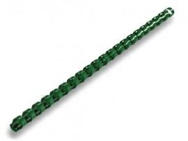 Пружины пластиковые 16мм., 145л., 100шт./уп., зелен.