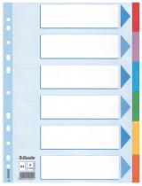 Разделитель страниц цветовой 6 страниц 6 цветов картон.