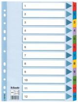 Разделитель страниц цифровой 1-12 Mylar картон.