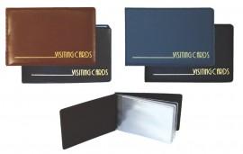 Визитница на 24 визитки, карман, винил., бордо