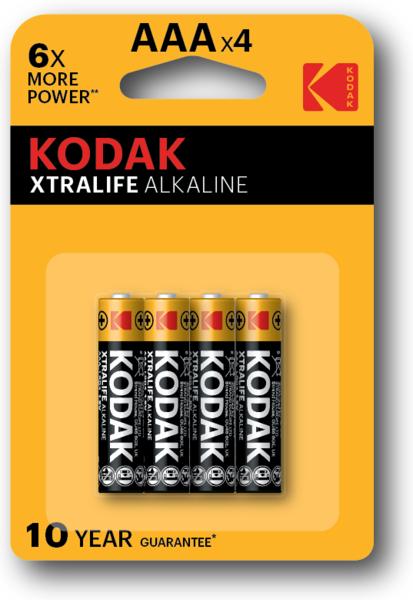 Батарейка LR03 XTRALIFE, 4шт./уп. Kodak - фото 1