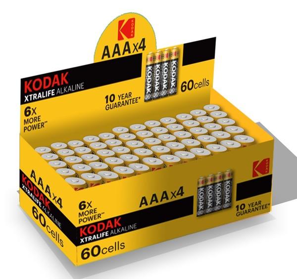 Батарейка LR03 XTRALIFE, 4шт./уп. Kodak - фото 2