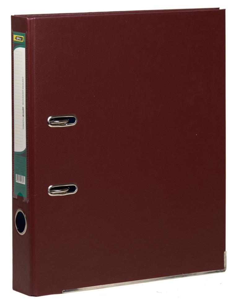 Регистратор 5см. А4 (PVC) односторонний, бордо 4Office - фото 1