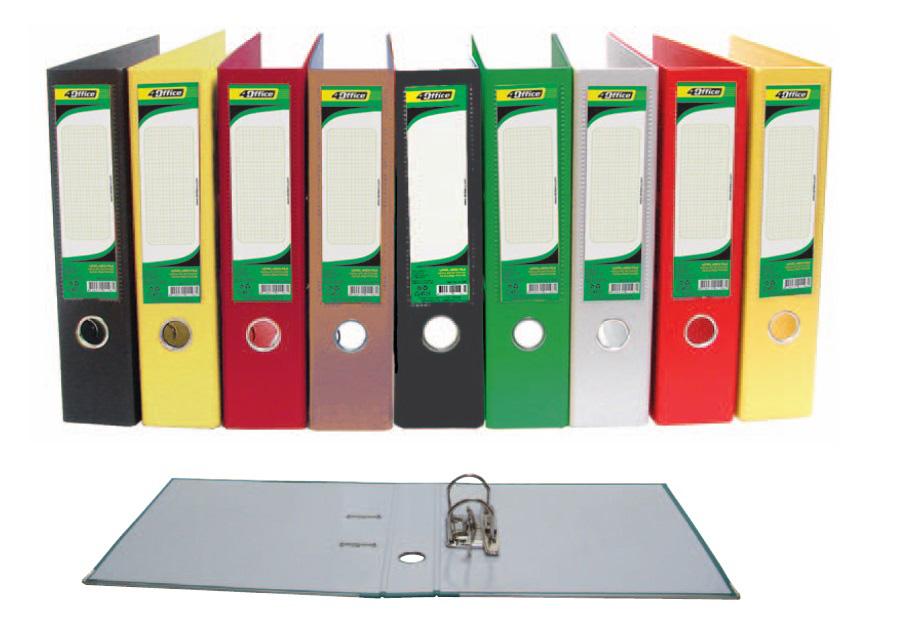 Регистратор 5см. А4 (PVC) односторонний, бордо 4Office - фото 2