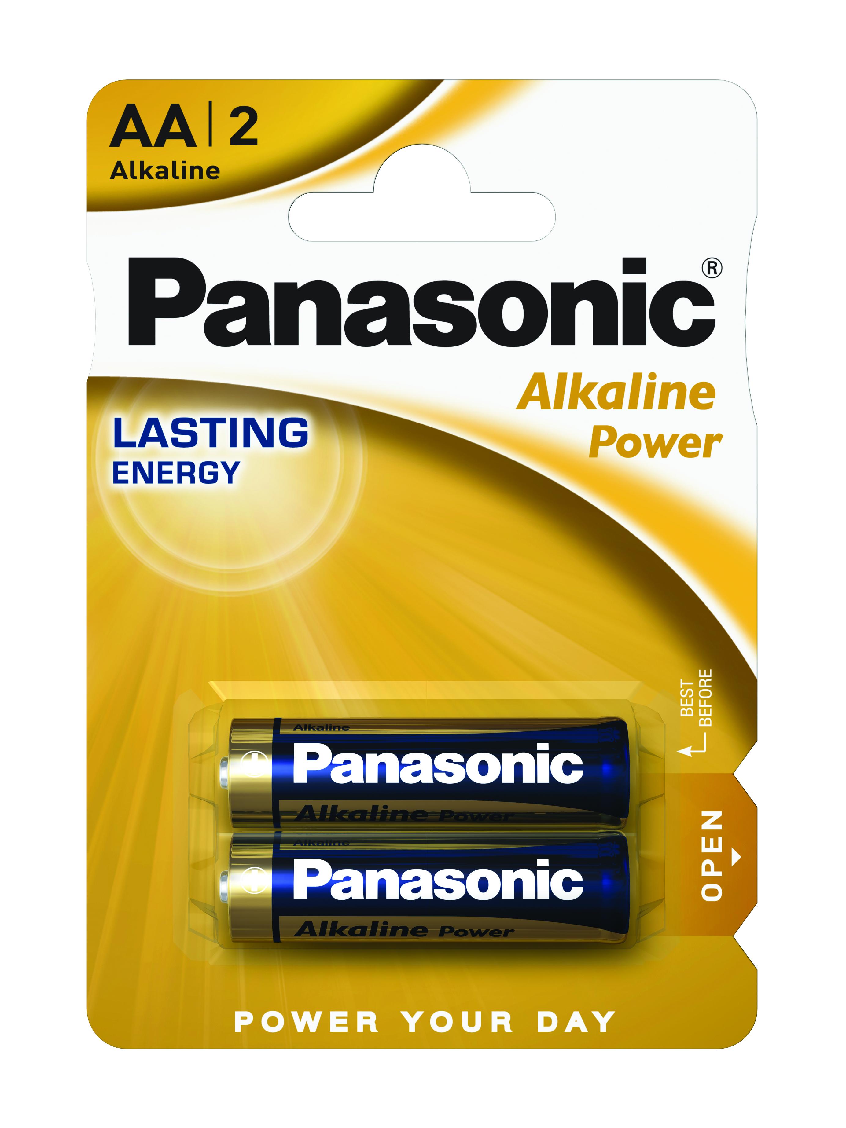 Батарейка LR6 (AA) Alkaline Power, 2шт./уп. Panasonic - фото 1