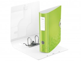 Регистратор 8,2см. А4 (PVC) Active Wow, метал. зелен.