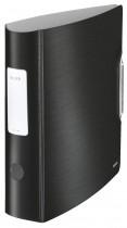 Регистратор 8,2см. А4 (PVC) 180 Style, сатиновый черн.