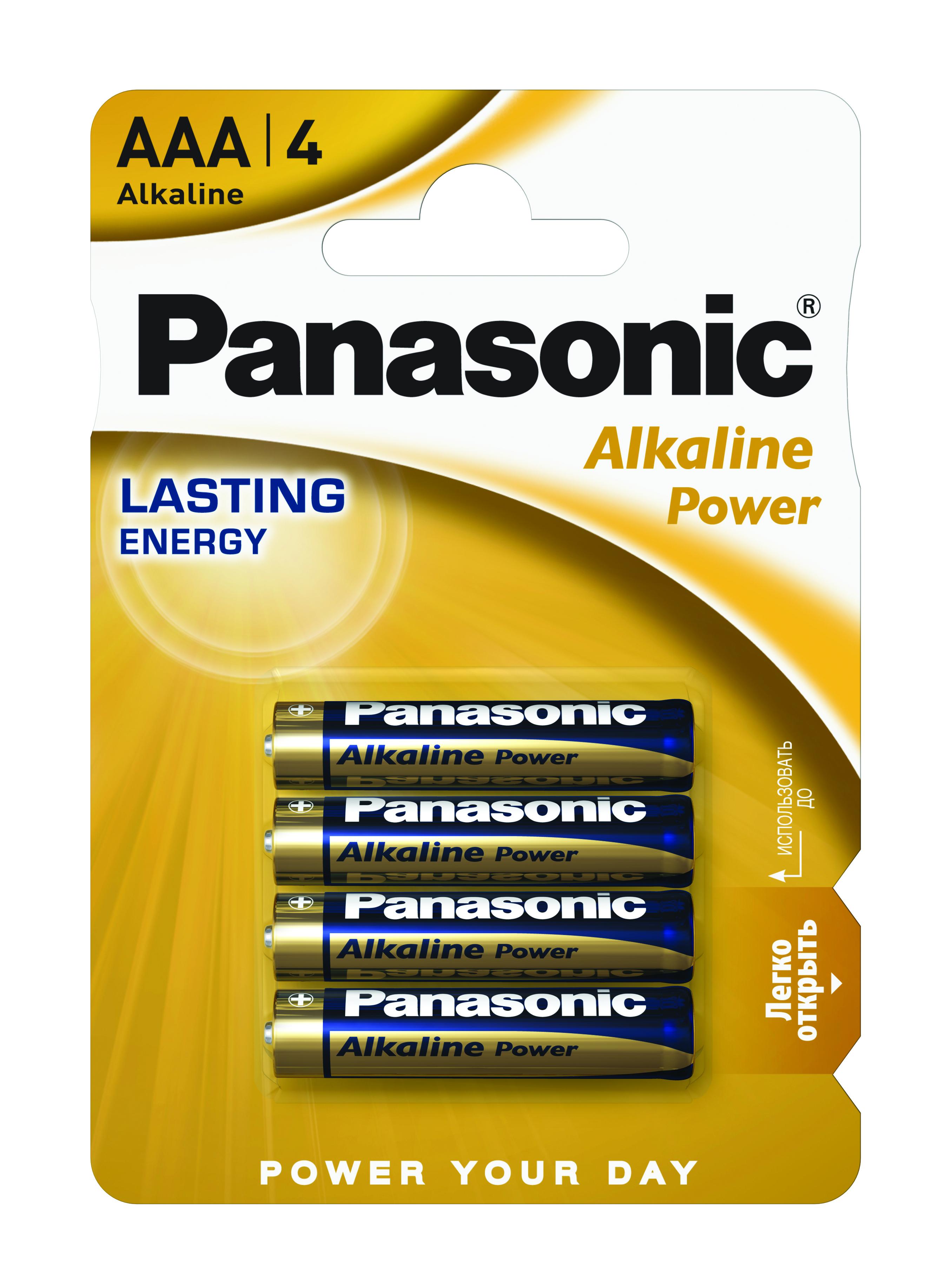 Батарейка LR03 (AAA) Alkaline Power, 4шт./уп. Panasonic - фото 1
