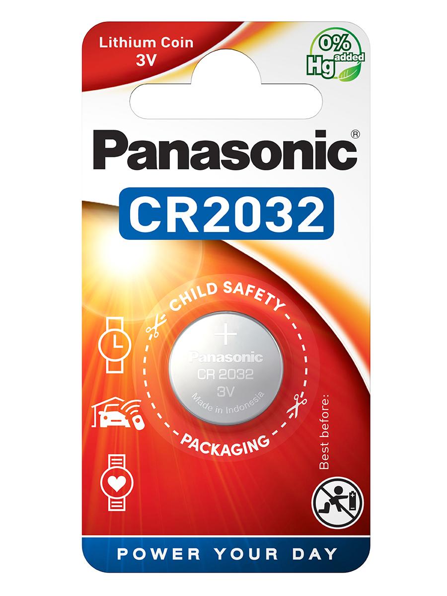 Батарейка CR-2032EL, 3v Panasonic - фото 1