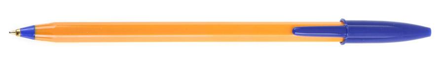 Ручка кулькова ORANGE, корпус, помаранч., ст., син. Bic - фото 1