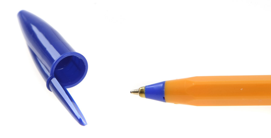 Ручка кулькова ORANGE, корпус, помаранч., ст., син. Bic - фото 3