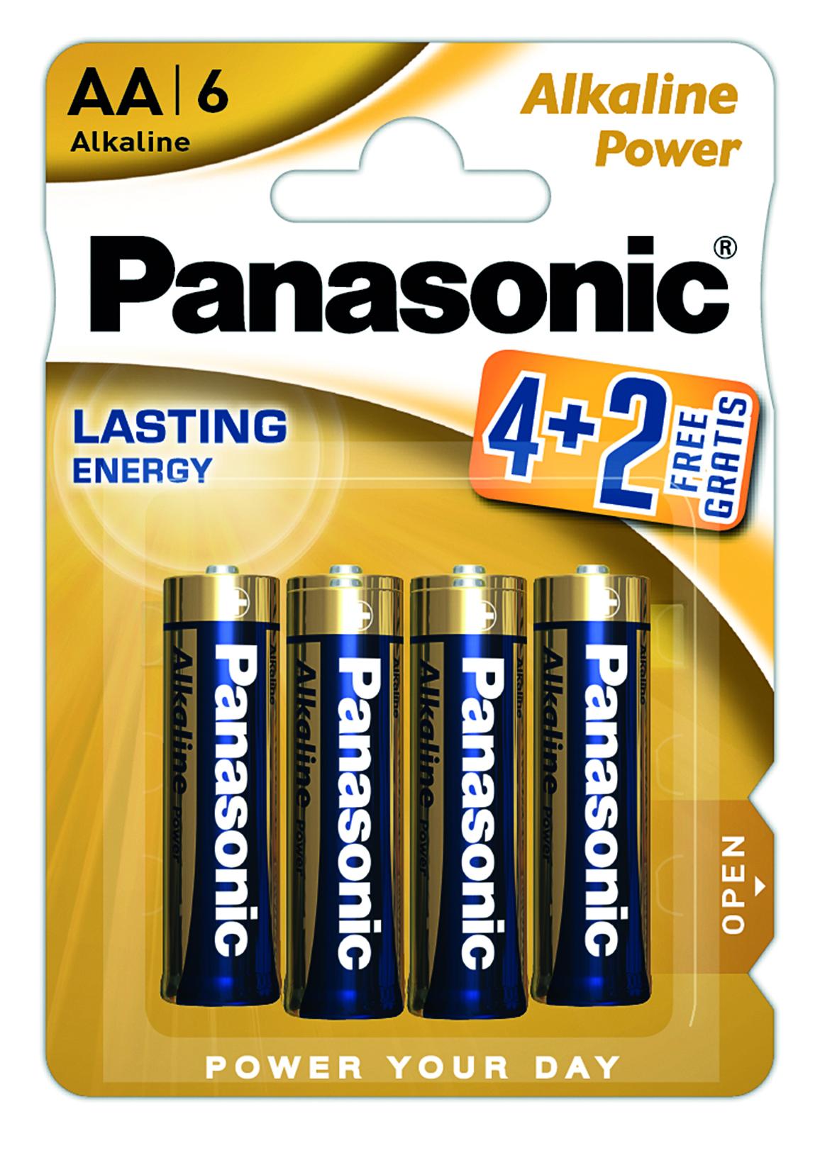 Батарейка LR6 (AA) Alkaline Power, 6шт./уп. Panasonic - фото 1