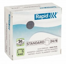 Скобы для степлера 24/6 Standard, 5000шт./уп.