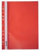 Скоросшиватель с прозрачным верхом и перфорацией, А4, красн.