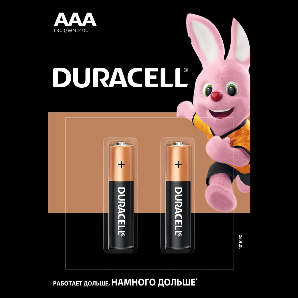 Батарейка LR03 (ААА) Basic, 2шт./уп.  Duracell - фото 1