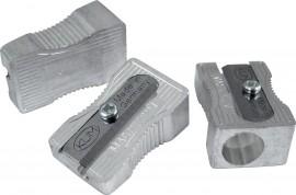 Точилка металлическая клиновидная форма с выемками для пальцев