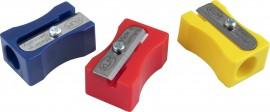 Точилка пластиковая прямоугольная, с выемками для пальцев