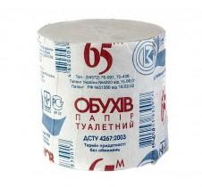 Туалетная бумага без втулки Обухов 1-сл., макул., 65м.