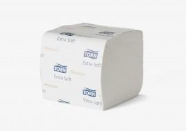 Туалетная бумага листовая Z-складка 2-х сл., целлюлоза, 252 лист.(11*19см.), бел.