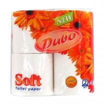 Туалетная бумага Стандарт 2-х сл., целлюлоза, 150отр.(9,8*11,5см.) 4шт./уп., бел.