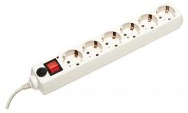 Фильтр-удлинитель 6розеток, 1,8м. + выключатель