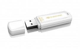 Флеш-память USB 3.0 Flash Drive 32Gb JetFlash 730 моноблок, пластик, корпус бел.
