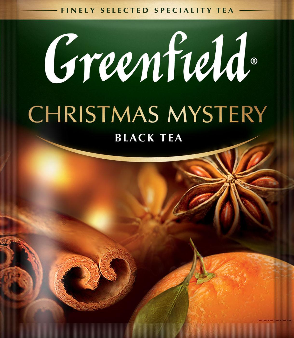 Чай черный ароматизированный Christmas Mystery 100пак. по 1,5гр., термосаше, в пакете Greenfield - фото 1
