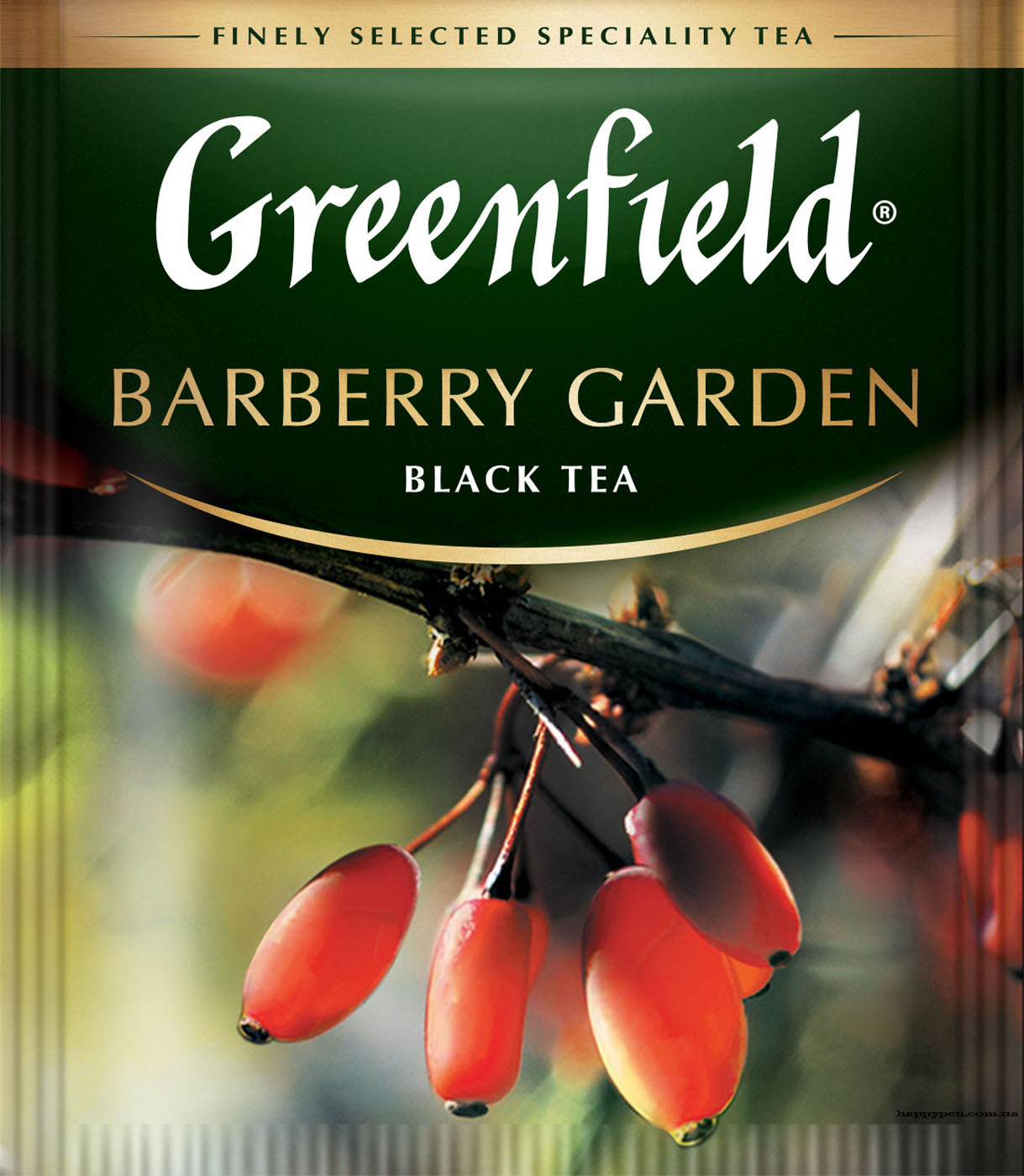 Чай черный ароматизированный Barberry Garden 100пак. по 1,5гр., термосаше, в пакете Greenfield - фото 1