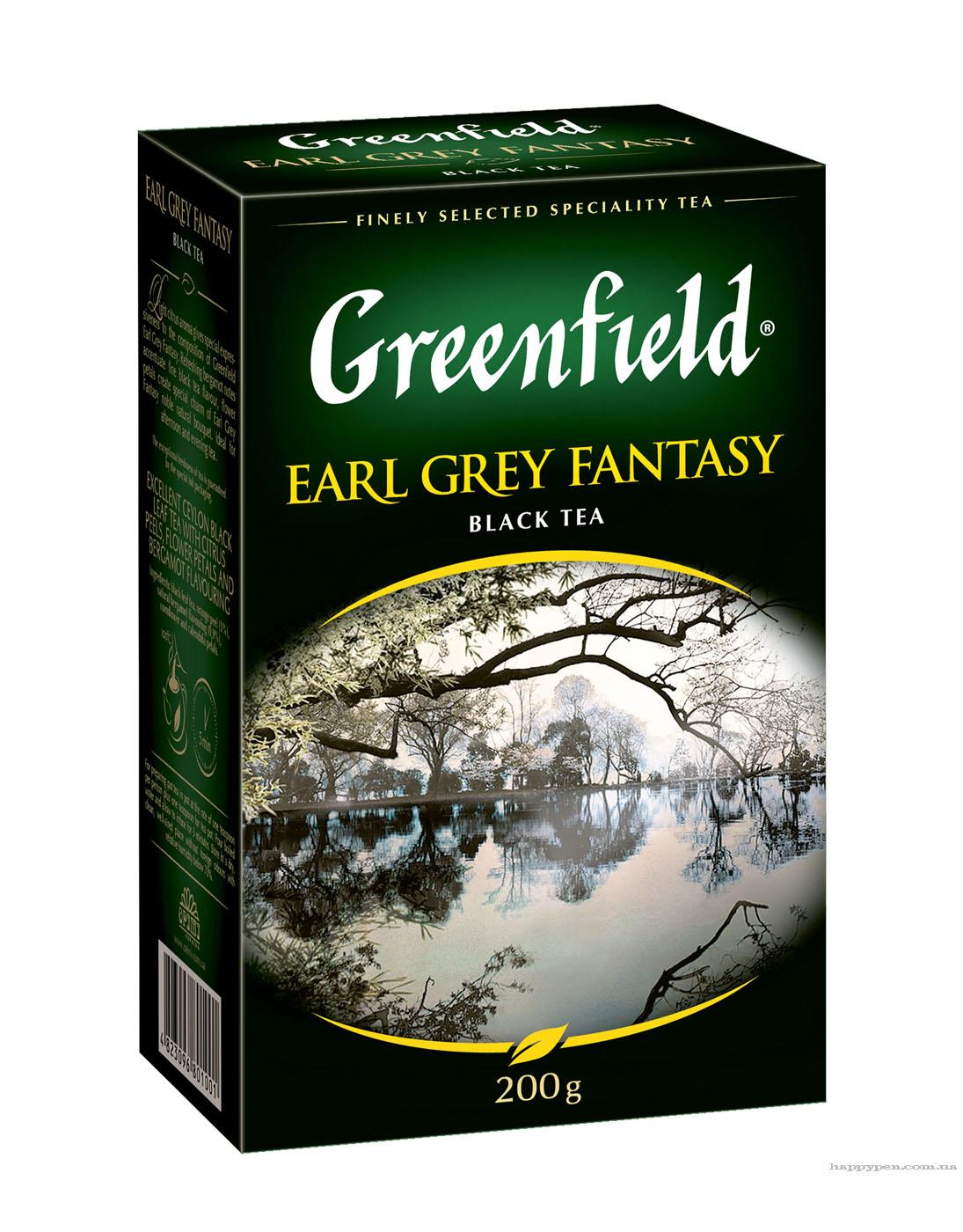 Чай черный ароматизированный Earl Grey Fantasy 200гр. Greenfield - фото 1