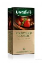 Чай черный ароматизированный Strawberry Gourmet 25пак. по 1,5гр., термосаше