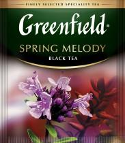 Чай черный ароматизированный Spring Melody 100пак. по 1,5гр., термосаше, в пакете