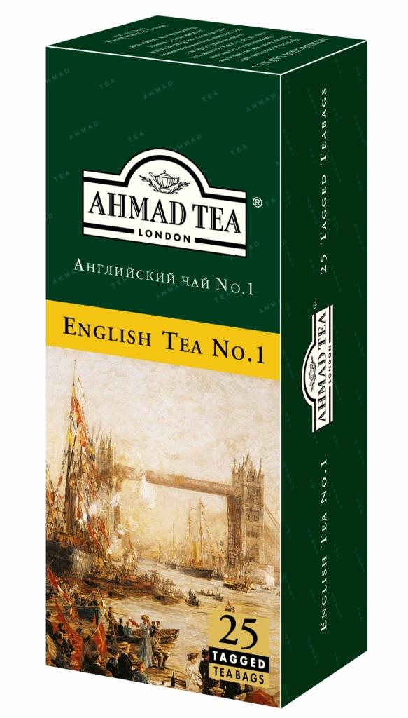 Чай черный ароматизированный Англиский №1 25пак. по 2гр. AHMAD - фото 1
