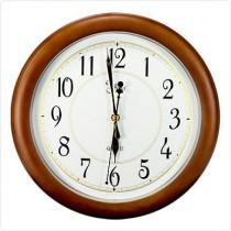 Часы PW916-1700-1, круглые, рамка деревянная, 345*345*43мм.