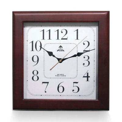 Часы настенные F6420A, квадратные, дерево Fuda - фото 1