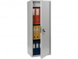 Шкаф бухгалтерский 2полки+отделение с замком, (1252*460*340см.) метал., замок