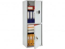 Шкаф бухгалтерский 2полки+отделение с замком, 2 двери, (1252*460*340см.) метал., электронный замок