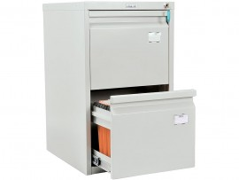 Шкаф картотечный, для подвесных файлов 2ящика, (685*408*480мм.) метал., замок сер.