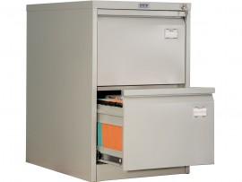 Шкаф картотечный, для подвесных файлов 2ящика, (713*467*630см.) метал., замок сер.