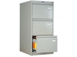 Шкаф картотечный, для подвесных файлов 3ящика, (1020*466*631см.) метал., замок сер.