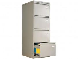 Шкаф картотечный, для подвесных файлов 4ящика, (1330*466*631) метал., замок сер.