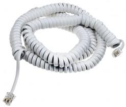 Шнур витой телефонный, длина 7,5м., 4р4с