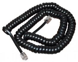 Шнур витой телефонный, длина 2м., 4р4с, черн.