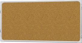 Доска модерационная 120х60см., пробковая, алюминиевая рамка