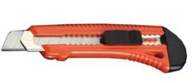 Нож канцелярский большой 18мм., метал. направляющая, пластиковый корпус