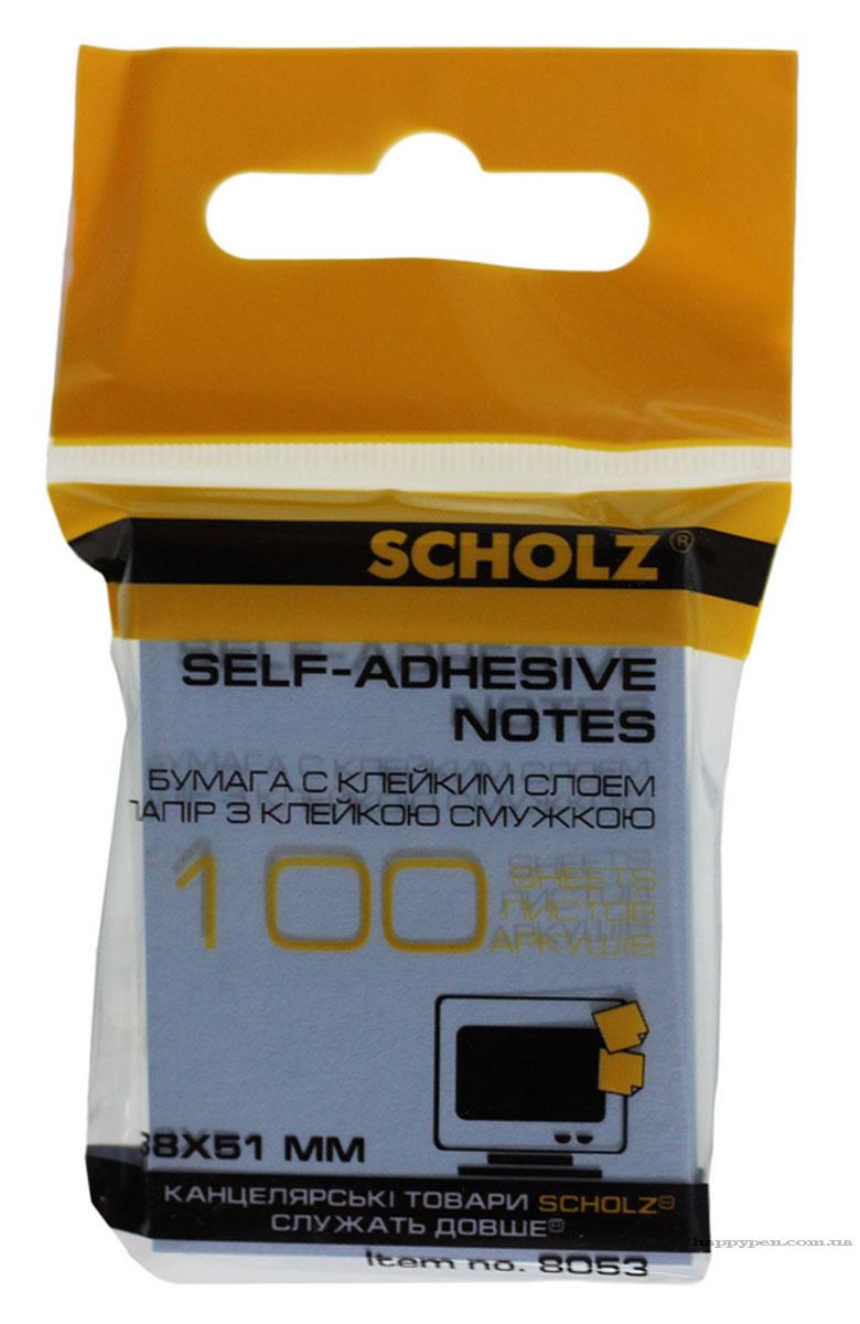 Блок бумаги с клейким слоем 38*51мм.*100 листов, ассорт. Scholz - фото 3