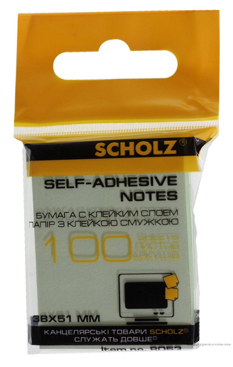 Блок бумаги с клейким слоем 38*51мм.*100 листов, ассорт. Scholz - фото 4