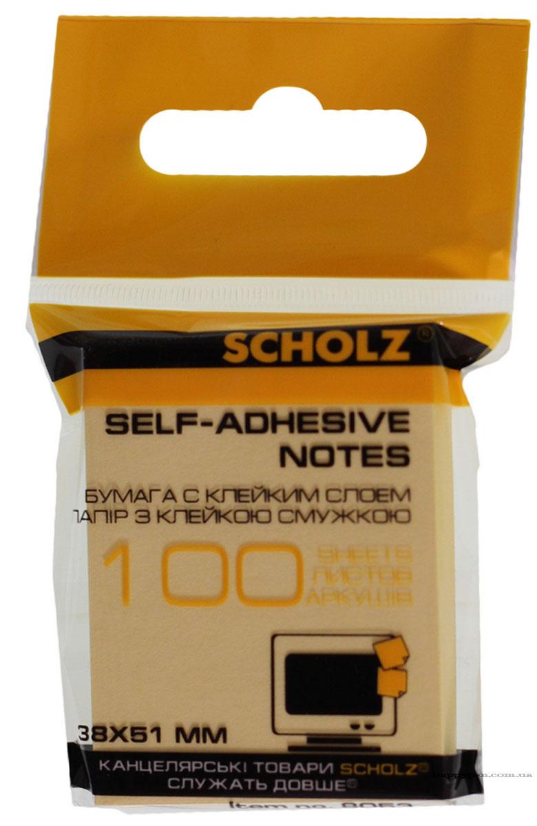 Блок бумаги с клейким слоем 38*51мм.*100 листов, ассорт. Scholz - фото 5