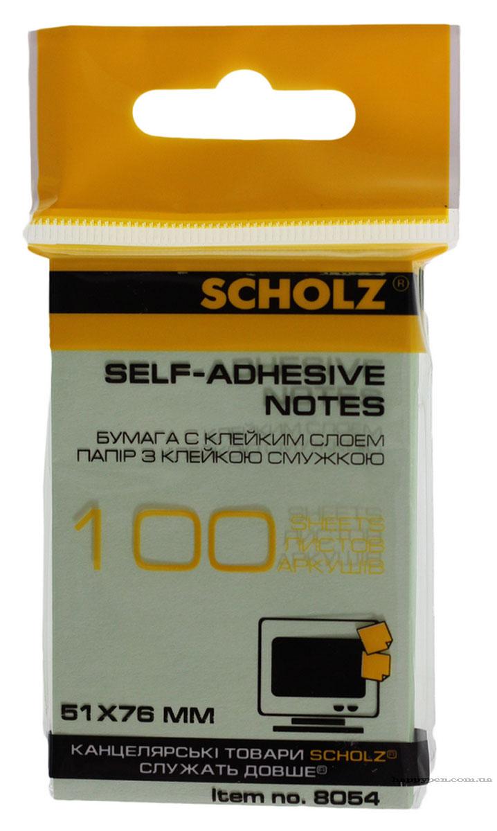 Блок бумаги с клейким слоем 51*76мм.*100 листов, ассорт. Scholz - фото 4
