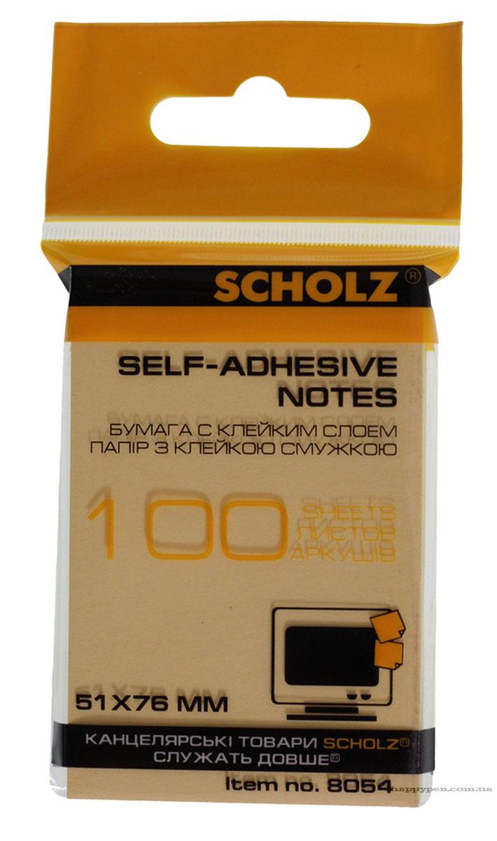 Блок бумаги с клейким слоем 51*76мм.*100 листов, ассорт. Scholz - фото 5