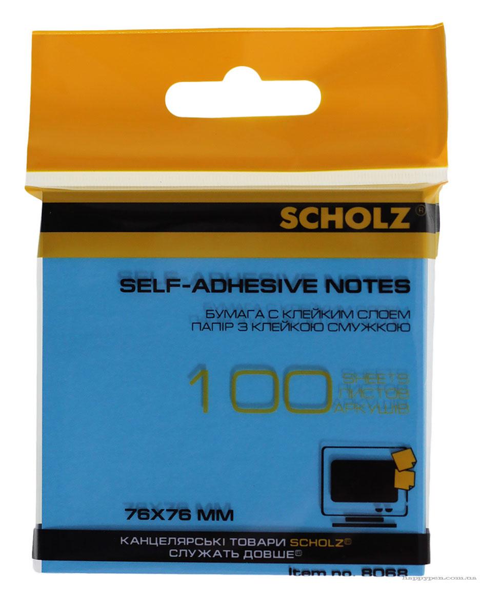 Блок бумаги с клейким слоем 76*76мм.*100 листов, неон., ассорт. Scholz - фото 4